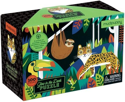 Mudpuppy Glow in Dark Puzzle/Rainforest