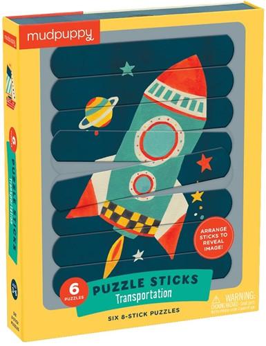 Mudpuppy Puzzle Sticks/Transportation