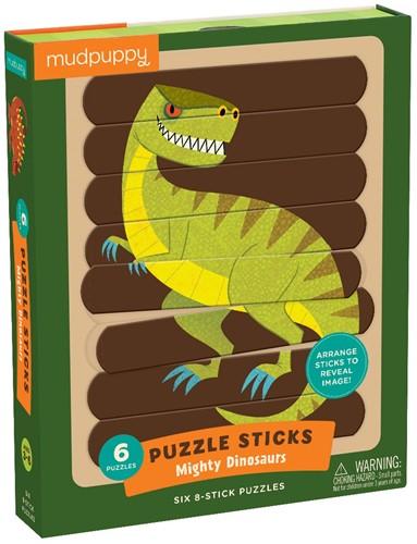 Mudpuppy Puzzle Sticks/Mighty Dinosaurs