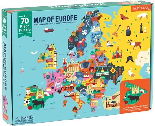 Mudpuppy 70 pcs Geography Puzzle/Europe