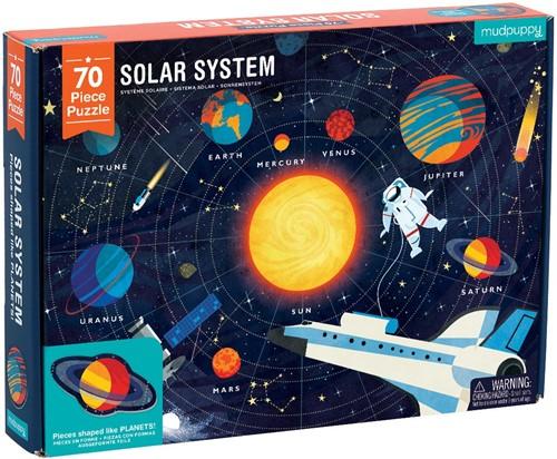 Mudpuppy 70 pcs Geography Puzzle/Solar System