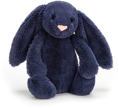 Jellycat knuffel Bashful Navy Bunny Medium 31cm