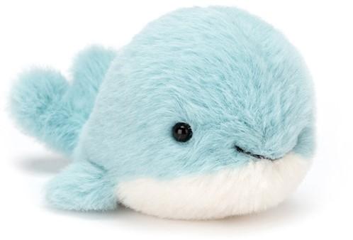 Jellycat knuffel Fluffy Whale 9cm