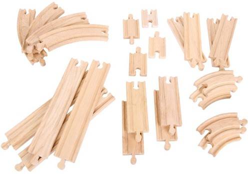 Bigjigs Straights & Curves Track Pack