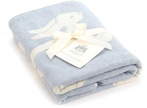 Jellycat Bashful Blue Bunny Blanket
