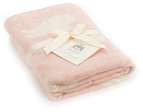 Jellycat Bashful Pink Bunny Blanket
