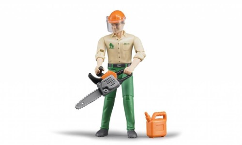 Bruder Forestry worker with accessories