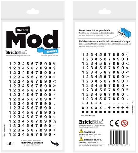 Planet Happy  BrickStix Mod stickers: numbers