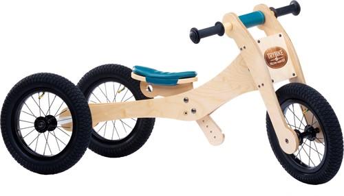 Trybike wooden balance bike 4-in-1 Blue
