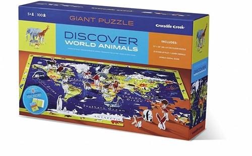 Crocodile Creek Discover Puzzle/World - 100 stukjes