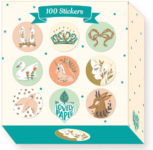 Djeco Lucille - 100 Stickers