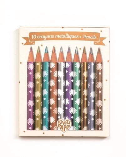 Djeco Crayons métalliques Chic