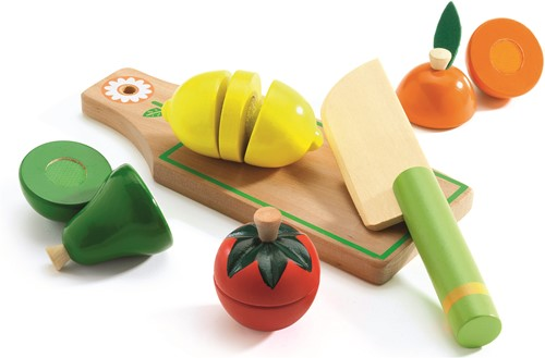 DJECO Fuits and vegetables to cut - 20 x 20 x 4,5 cm