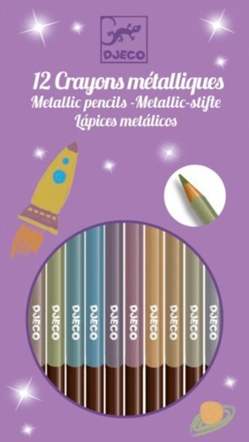 Djeco 8 crayons metalliques