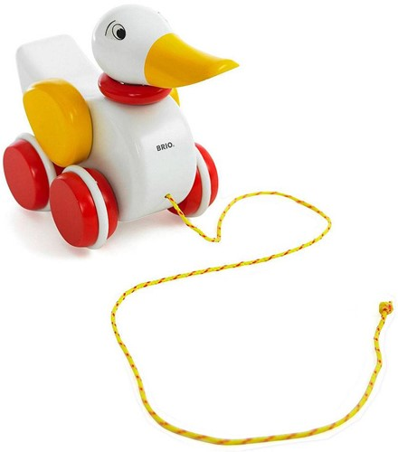 BRIO Pull-along Duck white