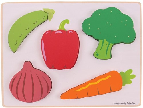 Bigjigs Lift and See Puzzle - Vegetables