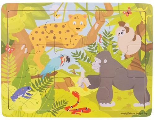 Bigjigs Tray Puzzle - Rainforest