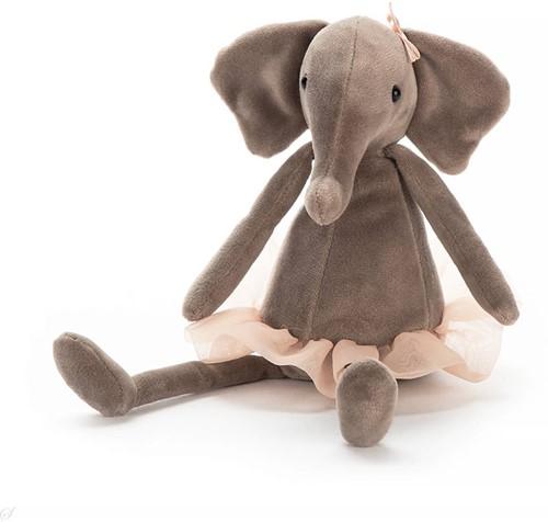 Jellycat knuffel Dancing Darcey Elephant Small 23cm