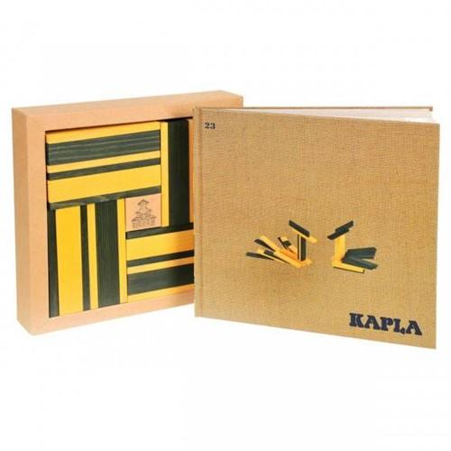 Kapla  houten bouwplankjes 40 Plankjes geel/groen