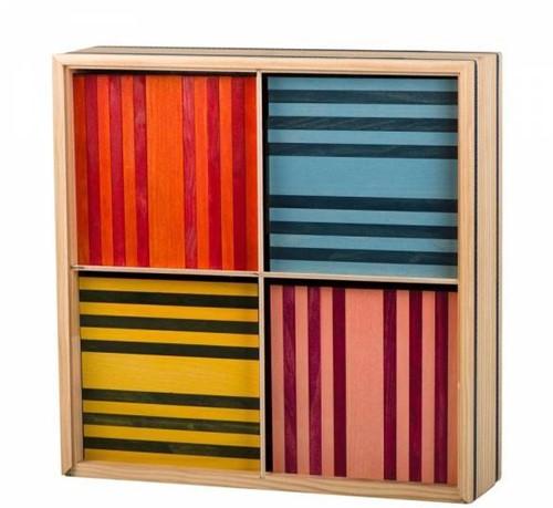 Kapla  houten bouwplankjes 100 - 8 kleuren