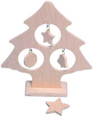 Beleduc  houten knutselspullen Kerstboom met kerstballen