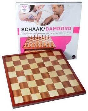 Angel Sports Schaak/dambord 42 cm in luxe doos