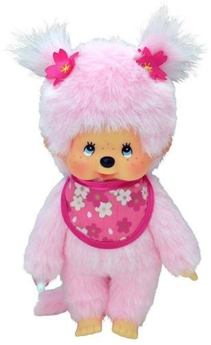 Monchhichi  knuffelpop Meisje Cherry Blossom roze - 20 cm