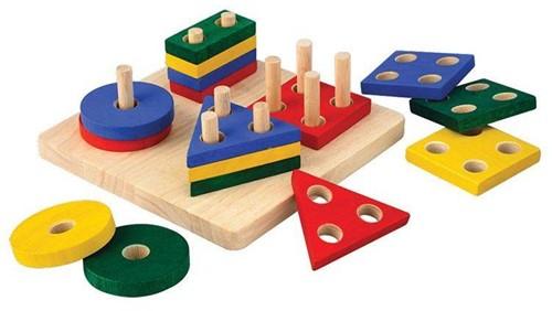 PlanToys Geometric Sorting Board motor skills toy