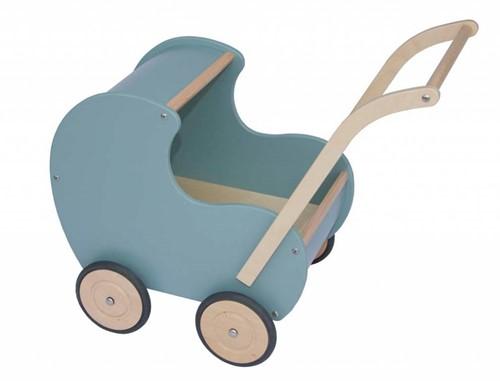 Van Dijk Poppenwagen Vintage Blauw