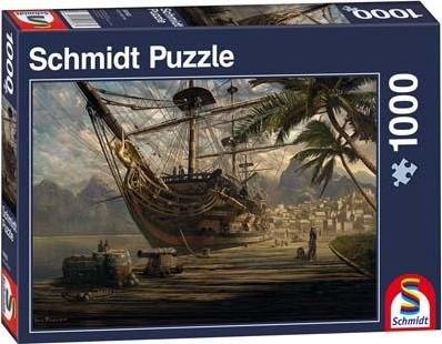 Schmidt Spiele Schiff vor Anker Jigsaw puzzle 1000 pc(s)