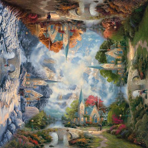 Schmidt Spiele Die Kirche in den Bergen Jigsaw puzzle 1000 pc(s)