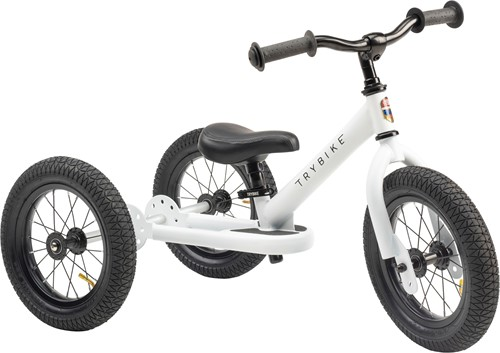 Trybike loopfiets 2-in-1 staal - Wit