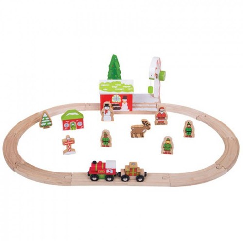 Bigjigs Winter Wonderland Train Set